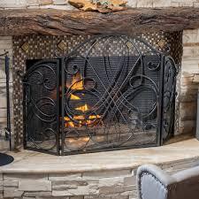 silver fireplace screen binhminh decoration