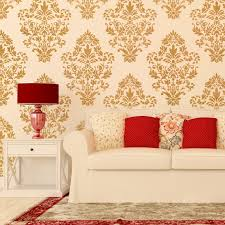 Damask Wall Decor Damask Wall Stencil Pattern Ludovica For Diy Home Decor Wallpaper