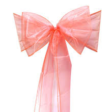 popular coral chair bows buy cheap coral chair bows lots from