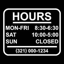 amazon com stickerloaf brand store hours name custom window decal