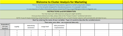 Excel Survey Data Analysis Template Guide To The Free Template Cluster Analysis 4 Marketing