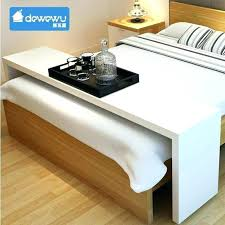 rolling adjustable bedside table rolling table over bed maneiro club