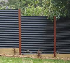 garden feature wall ideas sheet metal fence panels corrugated
