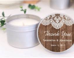 personalized candle favors candle wedding favor etsy