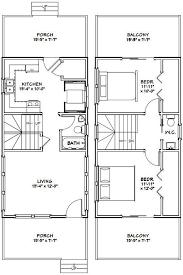 20x32 Tiny House 20x32h4d 640 Sq Ft Excellent Floor Plans Floor Plans Mini House