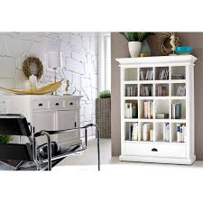 Bookcase With Drawers White Halifax White Mahogany Bookcase With Drawer Dcg Stores