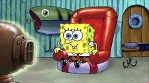 spongebob watching tv know your meme