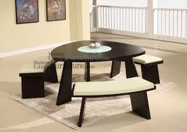 Dining Room Table With Swivel Chairs by Triangle Dining Table With Bench Brown Leather Arm Sofa Chair Dark