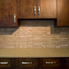 Stone Mosaic Tile Kitchen Backsplash by Warm Grey Marble Mosaic Tile Used As A Kitchen Backsplash