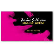 Makeup Business Cards Designs Glitzy Pink Diamond Bling Modern Makeup Artist Business Cards