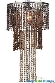 chandelier diamonds brown beaded chandelier with acrylic diamonds