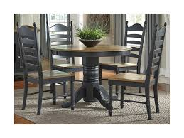 liberty furniture springfield ii dining pedestal table with leaf