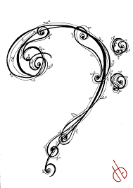 24 best bass clef tattoo designs images on pinterest music bass