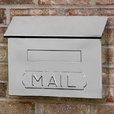 Whitehall Wall Mount Mailbox Mounting Height Brushed Nickel Mailbox U2014 Home Design Stylinghome