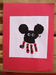 mickey mouse handprint art arts crafts u0026fun for raylen