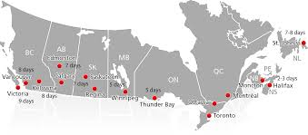 Ups Shipping Zones Map Ltl Carrier Canada Fastfrate Intermodal Freight Shipping
