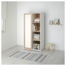 Beech Bedroom Furniture Sniglar Wardrobe Beech White 81x50x163 Cm Sliding Door Small
