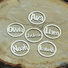 custom name wood ornament holidaytimeornaments