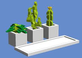 desk cactus lego ideas desktop cactus planters