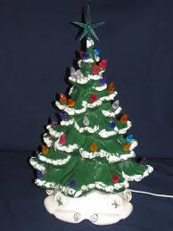 ceramic christmas tree with lights 60s 70s vintage handmade ceramic christmas tree w plastic bulb lights