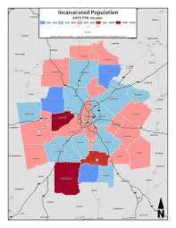 Metro Atlanta County Map by Incarceration Rate Metro Atlanta Equity Atlas