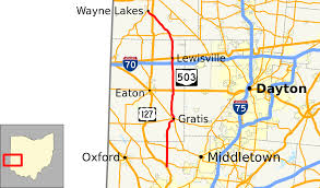 Map Dayton Ohio by Ohio State Route 503 Wikipedia