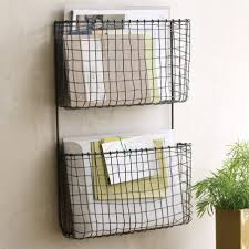 charming wooden wall hanging mail organizer vertical wire wall