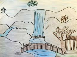 how to draw a realistic landscape mountains best drawing for kids