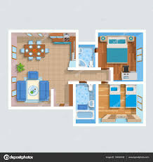 flat house design top view flat interior plan u2014 stock vector macrovector 135335732