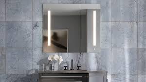 Bathroom Mirror Cabinet With Lights by Bathroom Recessed Medicine Cabinets For Creative Bathroom Storage
