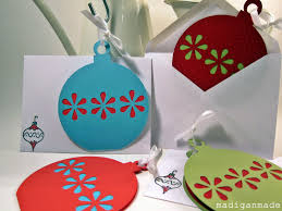 our card a simple die cut ornament rosyscription