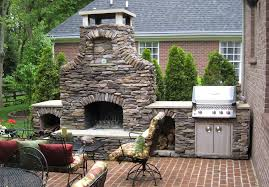 backyard fireplace grill home outdoor decoration