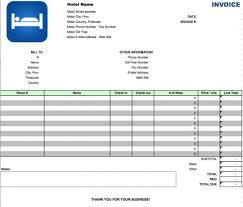 hotel invoice template excel invoice example