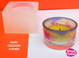small tea light candles tea light candle holder clear mold candle holder or tiny pot for