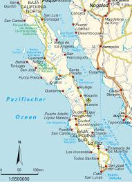 Map And Directions Map Baja California California Map