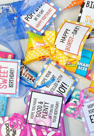 candy for birthdays candy bar birthday tags projects