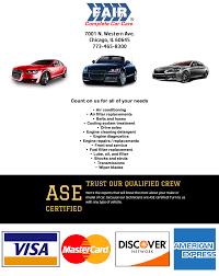 lexus body shop chicago auto repair shops 60645 fair complete car care best auto