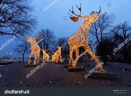 Giraffe Christmas Light Decoration by Herd Christmas Moose Made Led Light Stock Photo 344107049