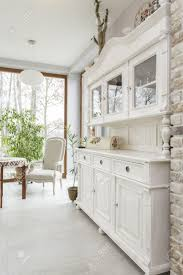 Classic White Kitchen Designs by Tuscany White Kitchen Commode Classic Style Stock Photo