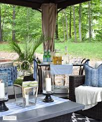 Gazebo With Bar Table Our New Backyard Patio Reveal Perfect For Entertaining
