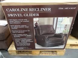 Microfiber Swivel Chair by Synergy Caroline Leather Recliner Swivel Glider