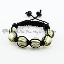 murano glass beads bracelet silver images Macrame foil murano glass beads bracelets jewelry armband wholesale jpg