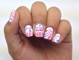 nails by celine breast cancer awareness nail art nail designs