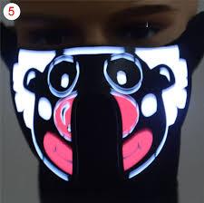 cool masks hot sale creative cool led luminous half mask