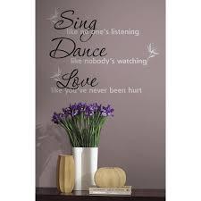 roommates rmk1552scs dance sing love peel stick wall decals roommates rmk1552scs dance sing love peel stick wall decals decorative wall appliques amazon com