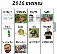 Meme Calendar 2016 - just updated the 2016 meme calendar 9gag