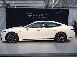 lexus ls f 2018 lexus ls 500 f sport debuts in york driving the nation