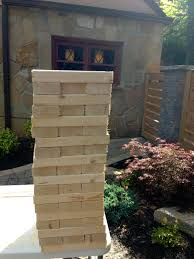 diy backyard jenga outdoor furniture design and ideas