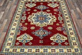 Pak Kazak Rugs Red And Beige And Blue Pakistan Kazak Rug 5 U00273x8 U00276 U2013 Fine Rug