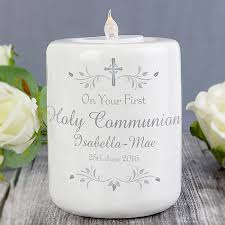 memorial tea light candle holder personalise this candle holder for a christening or holy communion